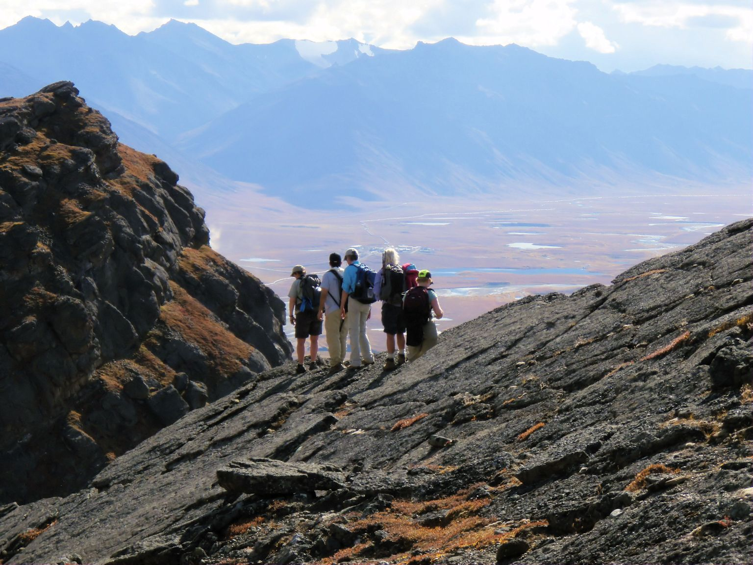 Hiking the mountains in the Arctic National Wildlife Reserve