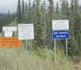 Road signs, northbound out of Coldfoot
