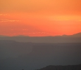 Sunset over Canyonlands, seen from the LaSal Mountains